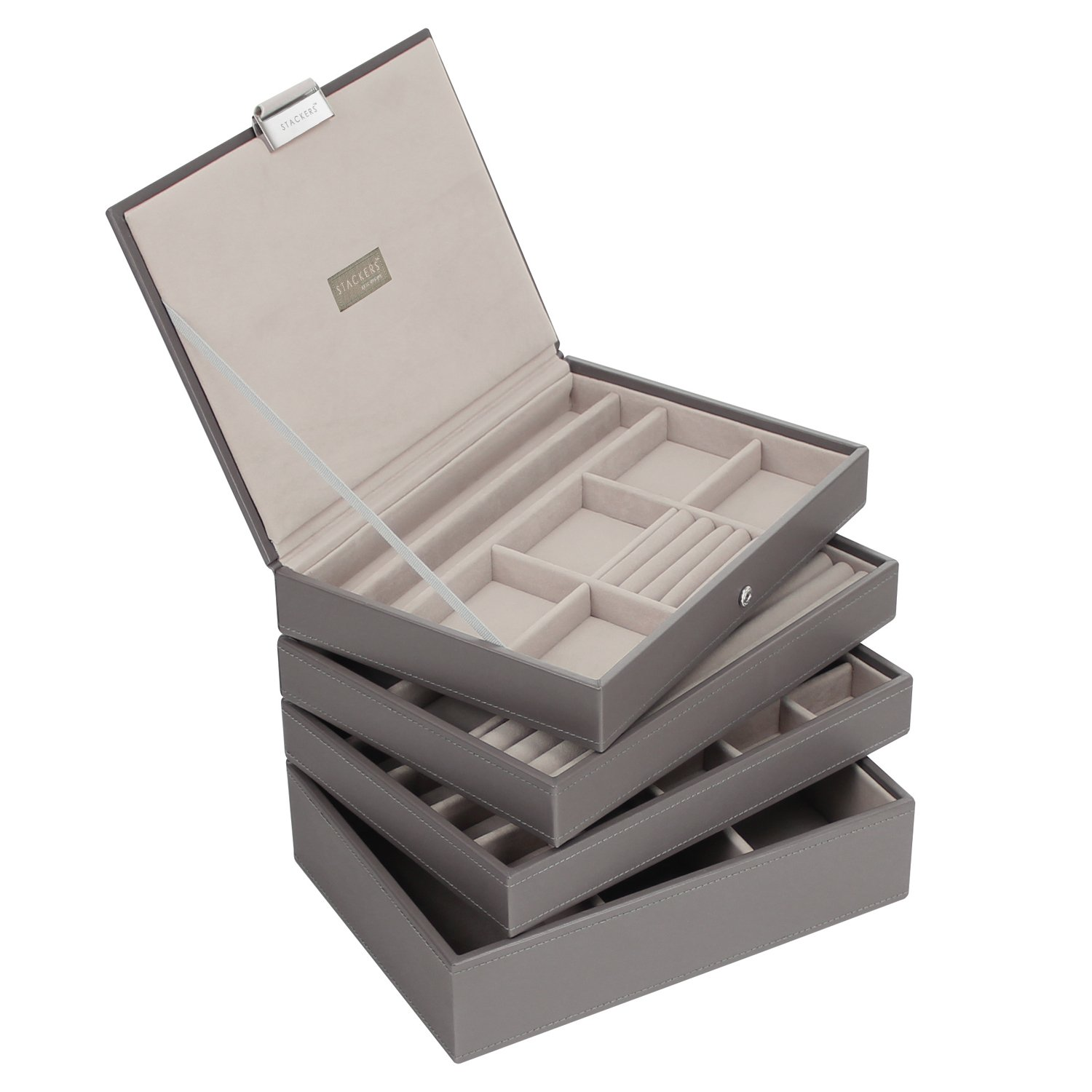 Stackers Mink Classic Jewellery Box Set of 4 Amazoncouk