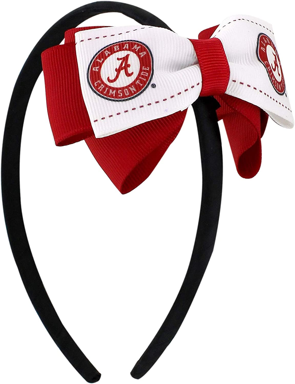 aminco NCAA Alabama Crimson Tide Team 2-Tone Bow Headband
