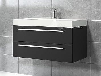 Schwarzes Holz badezimmer badmöbel rome 80 cm schwarzes holz unterschrank schrank