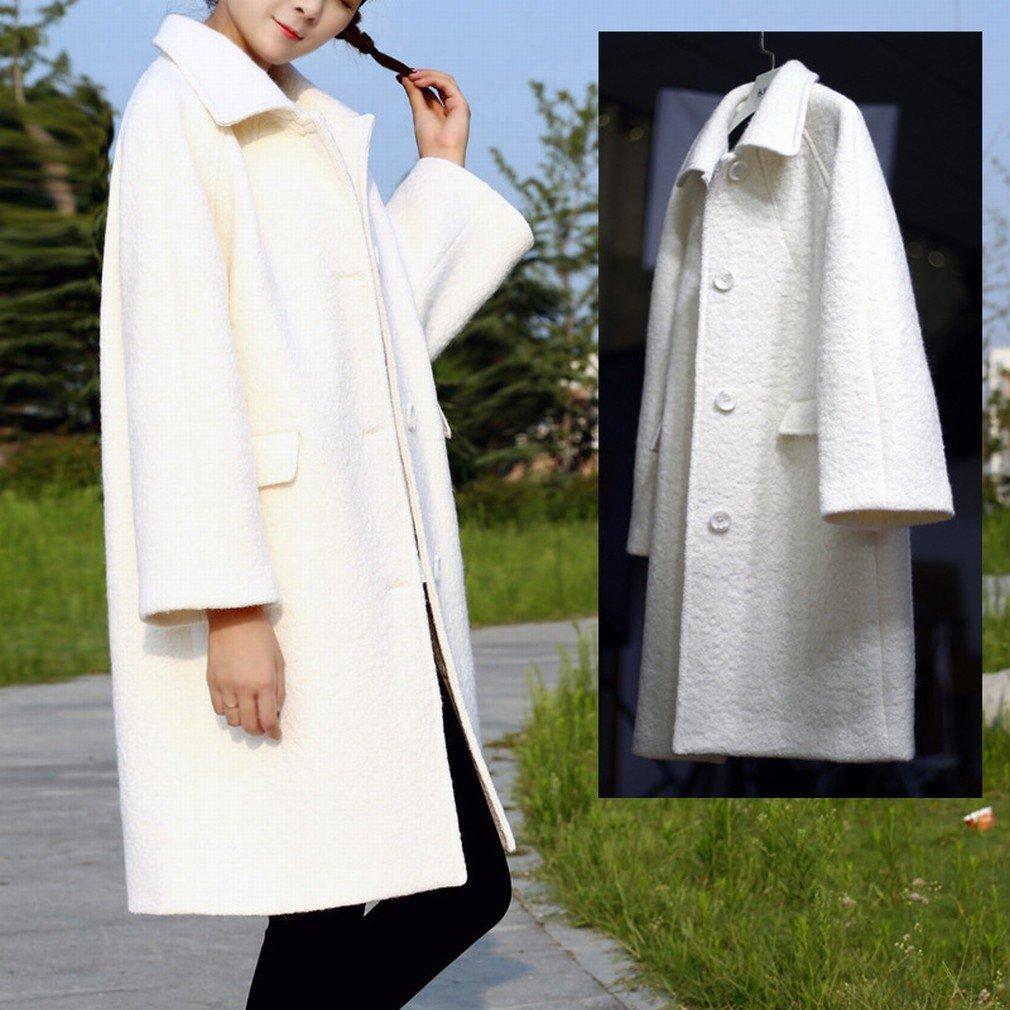 W coat Mode Herbst und Winter Mantel Mantel Mantel Langes Haar Mädchen