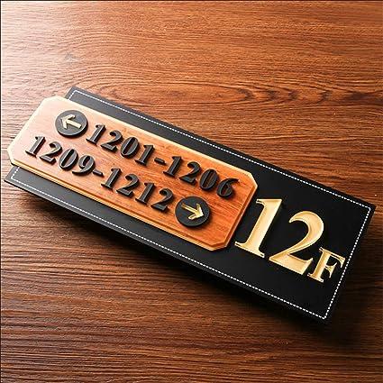 Amazon.com: Zzooi - Cartel de dirección con flecha y número ...