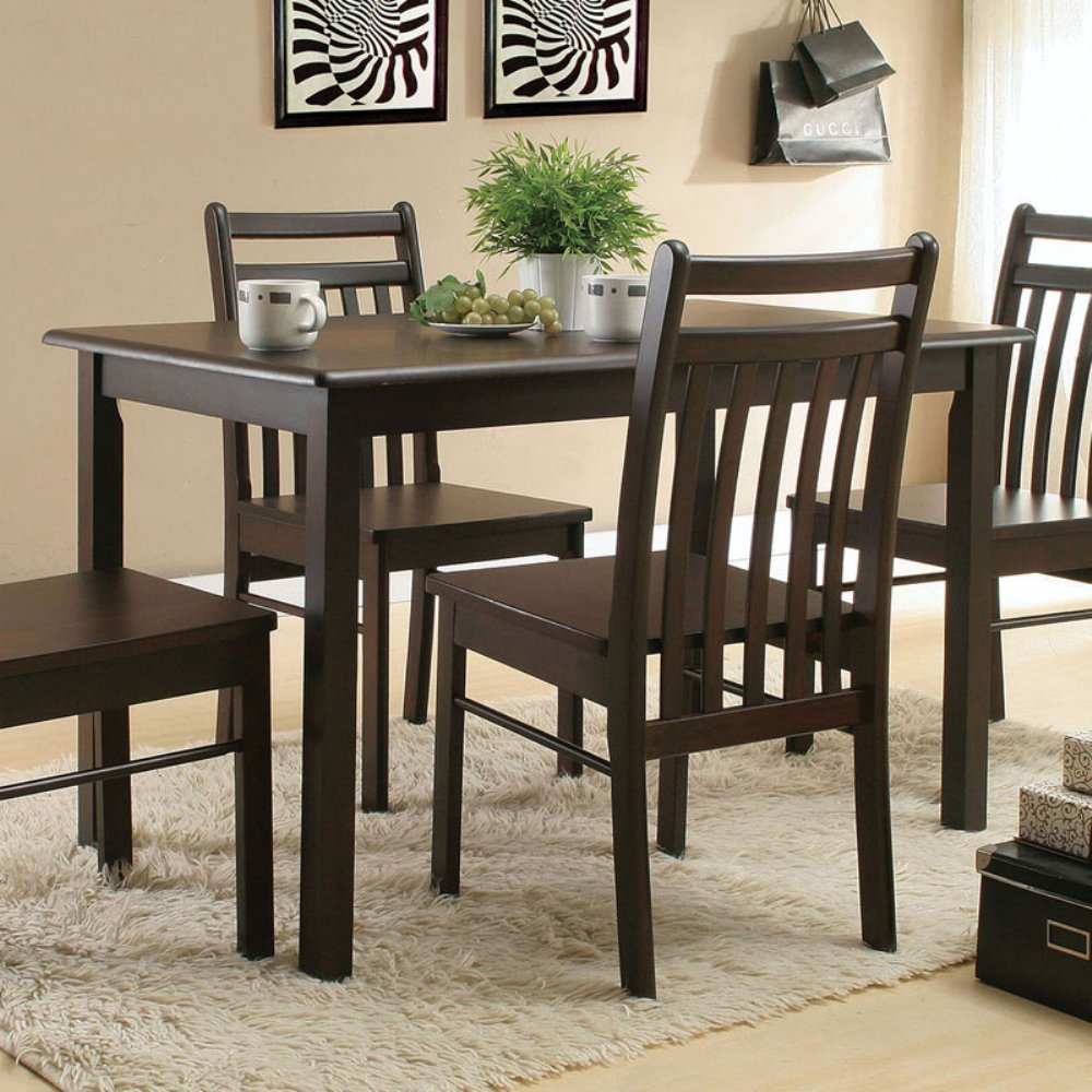 Acme 00860 Serra II Dining Table, Cappucino Finish