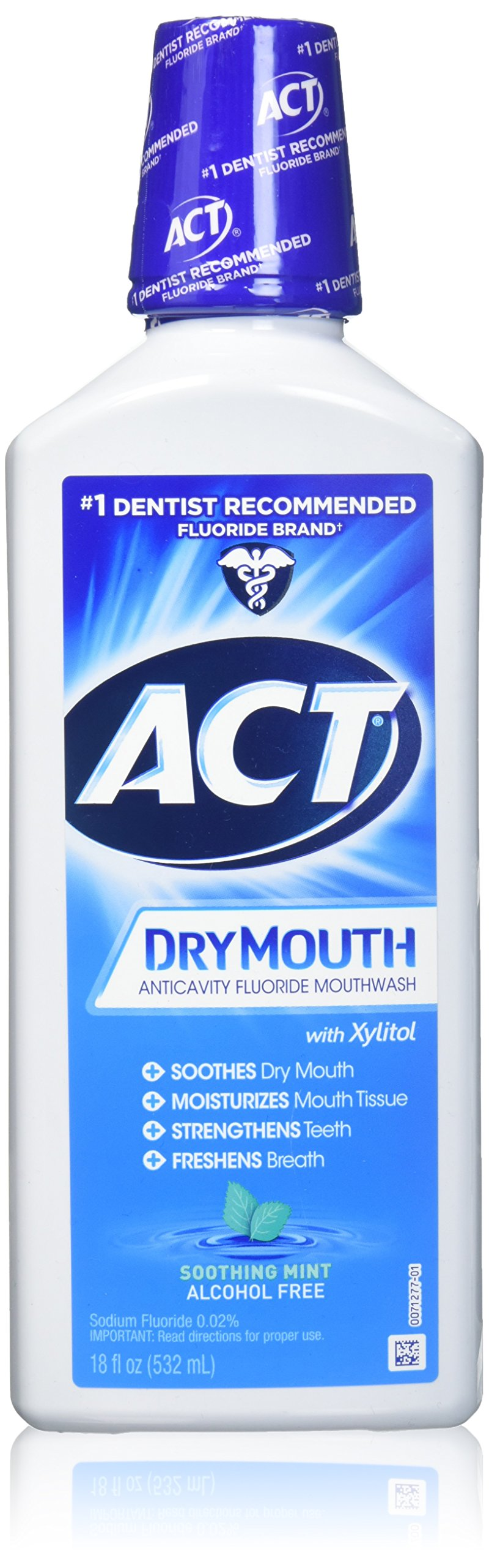 ACT Dry Mouth Mouthwash, Mint, 18 Ounce (Pack of 3)
