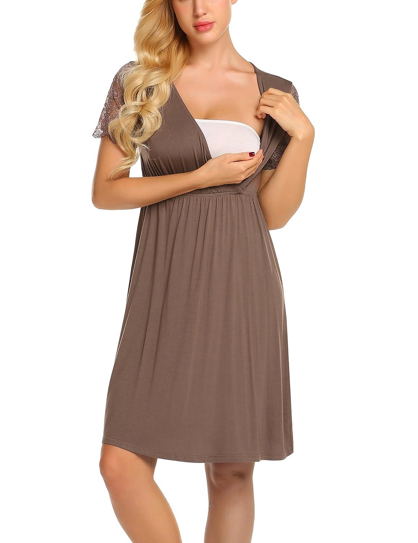 9deac29ca384a Nightgowns & Sleepshirts MAXMODA Womens Delivery/Labor/Maternity/Nursing  Nightgown Pregnancy Gown for Hospital Breastfeeding Dress ...