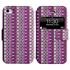 LEOCASE zig zag Funda Carcasa Cuero Tapa Case Para Apple iPhone 4 / 4S No.1004596