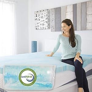 Xtra-Comfort Memory Foam Mattress Topper Queen