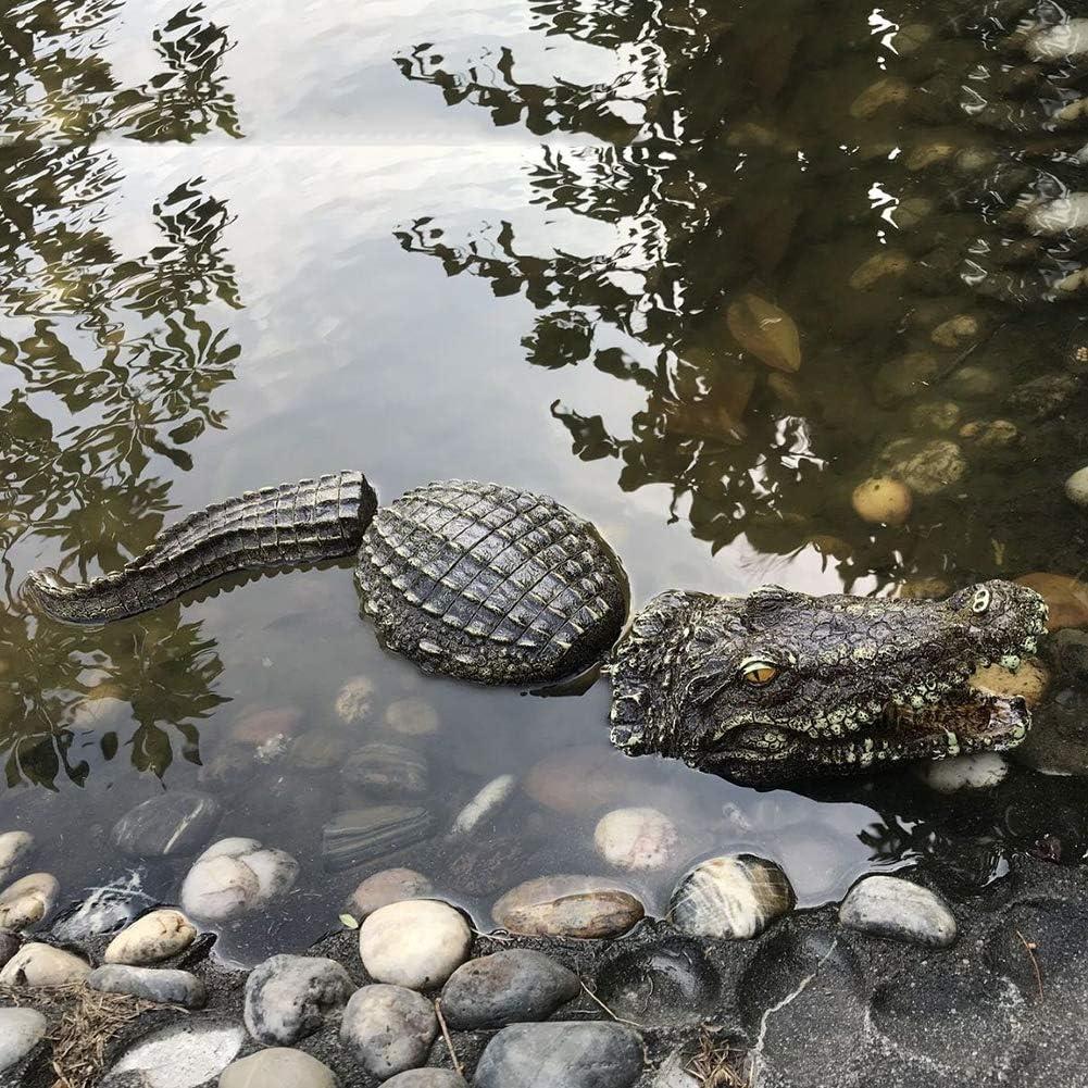 azfdxgfc Floating Crocodile Alligator Decoy Simulation Crocodile Pond Float Water Decoy Garden Pond Art Decor