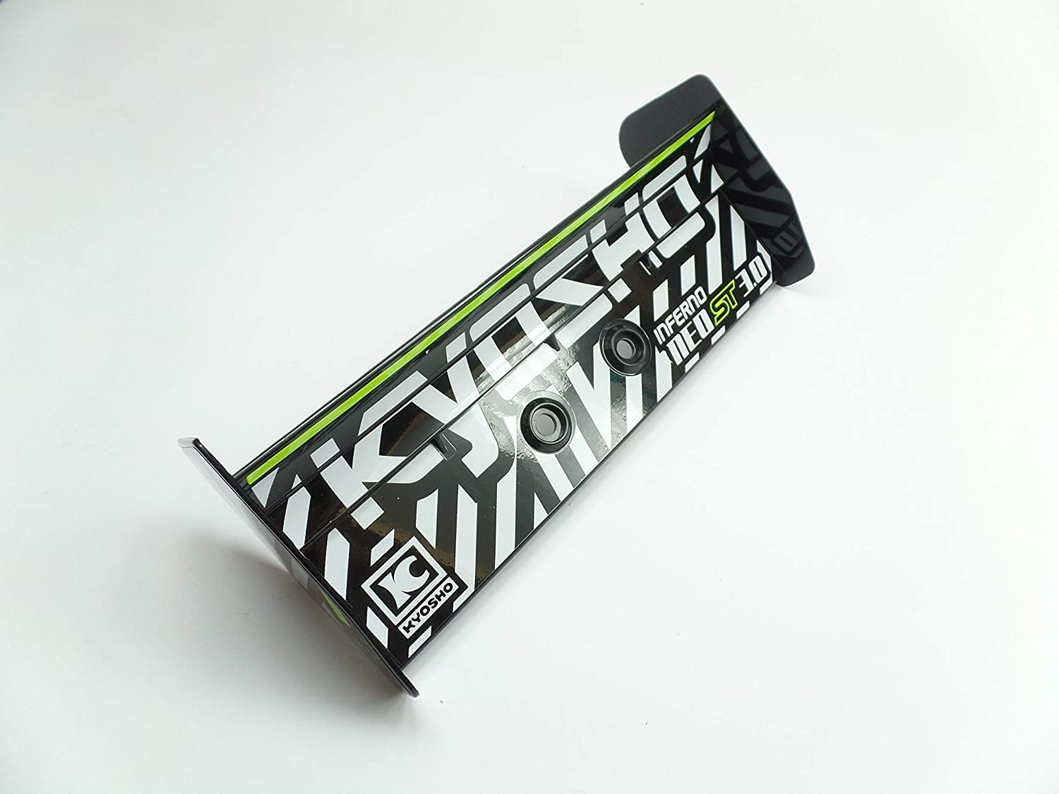 Kyosho Inferno IF401BK Rear Spoiler Black Laminated Hole Spacing ...