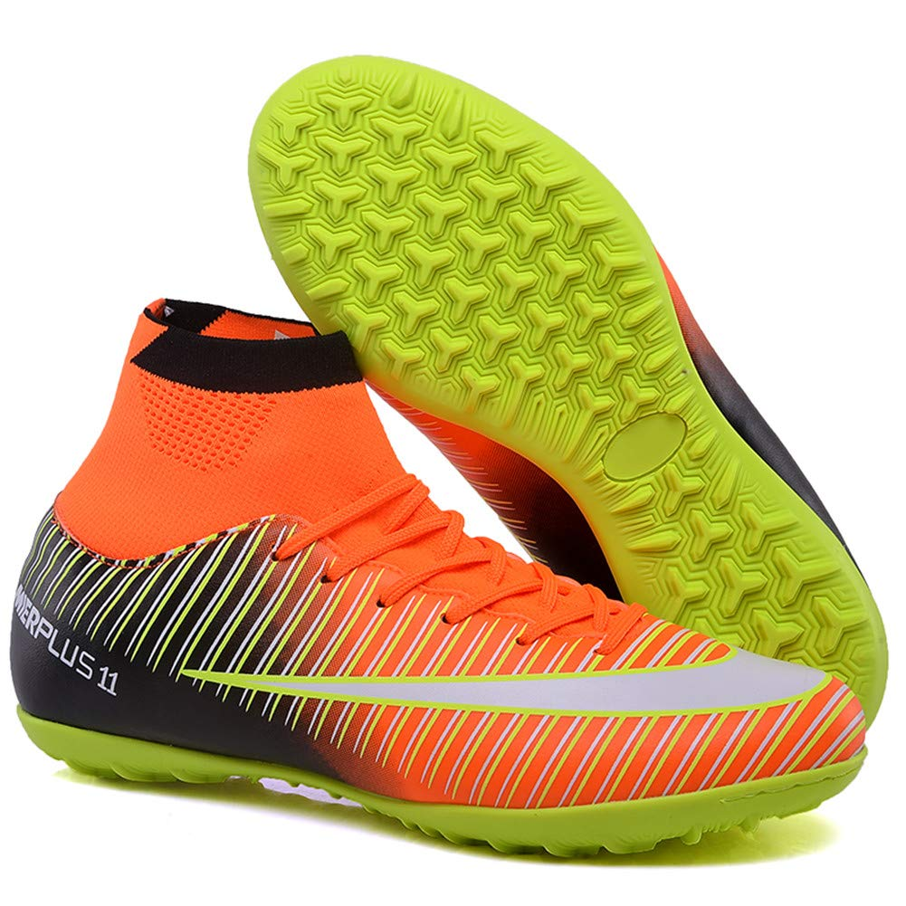 FCSHOES Turf Indoor Boys Girls Soccer Shoes Kids Cleats Training Football Boots High Ankle Sport Sneakers