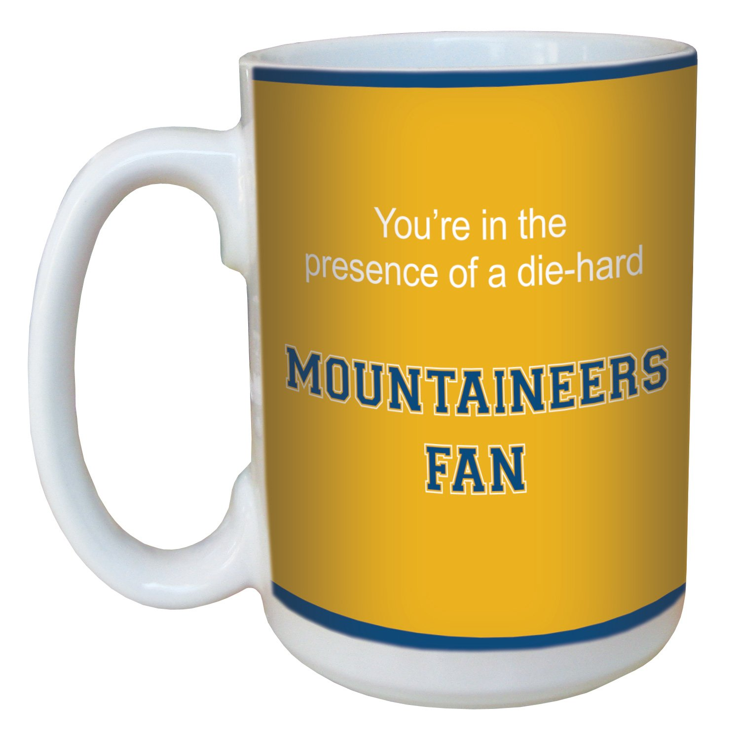 Tree-Free Greetings lm44951 Mountaineers College Basketball Ceramic Mug with Full-Sized Handle, 15-Ounce