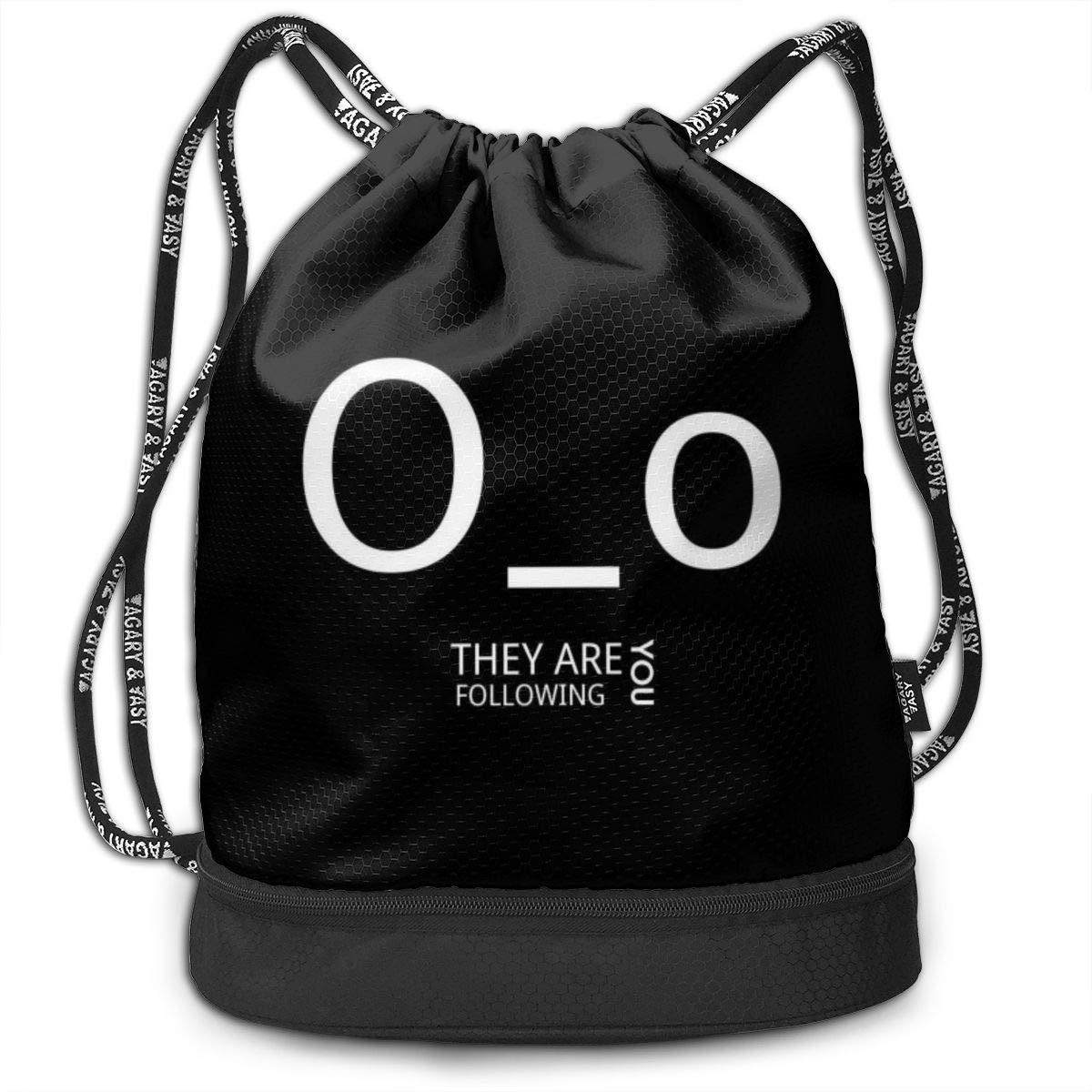 They Are Following You Drawstring Bag Multipurpose Bundle Dance Bag Sack Pack