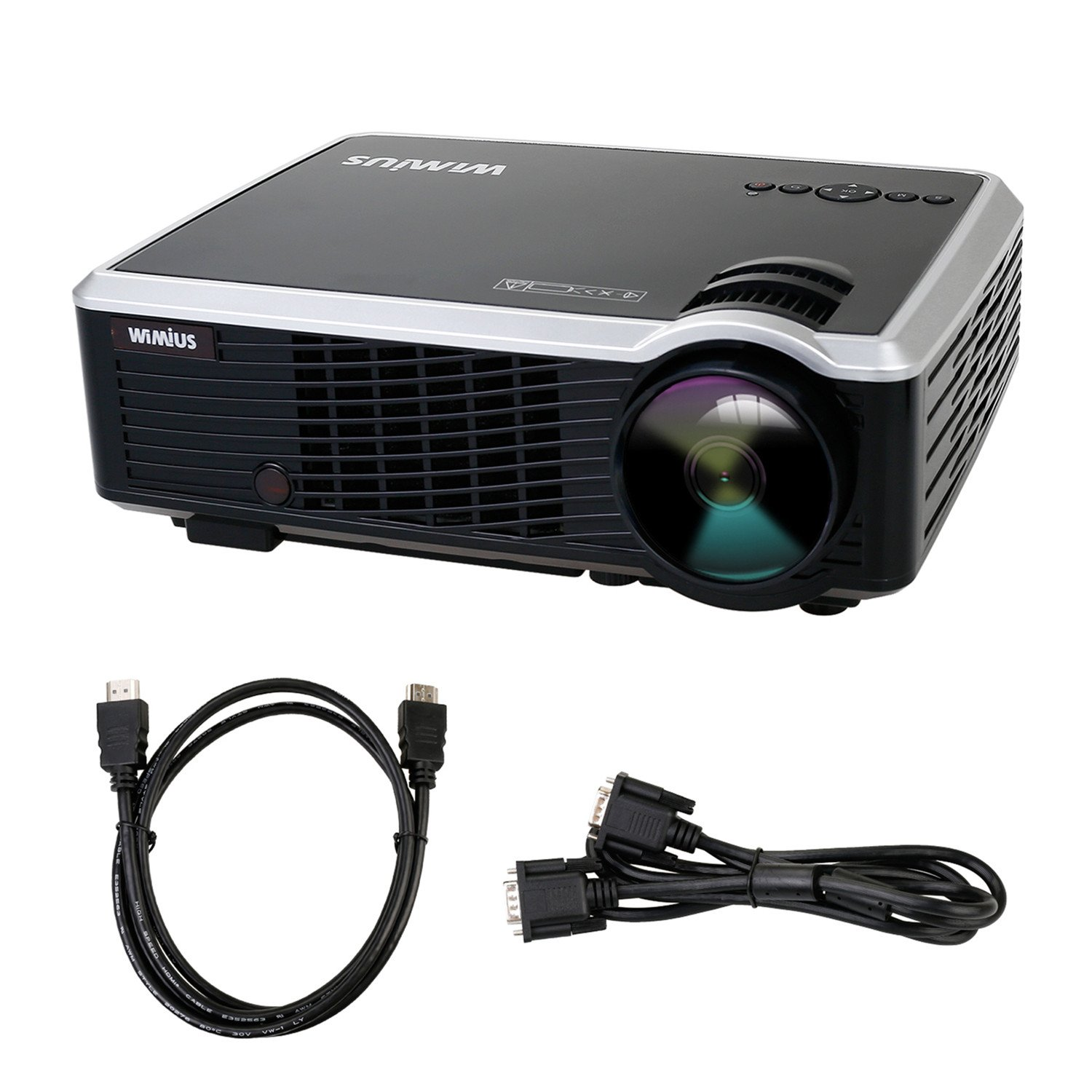 Proyectores LED Lúmenes Proyector Full HD Portátil Proyector Video Projector LCD Home