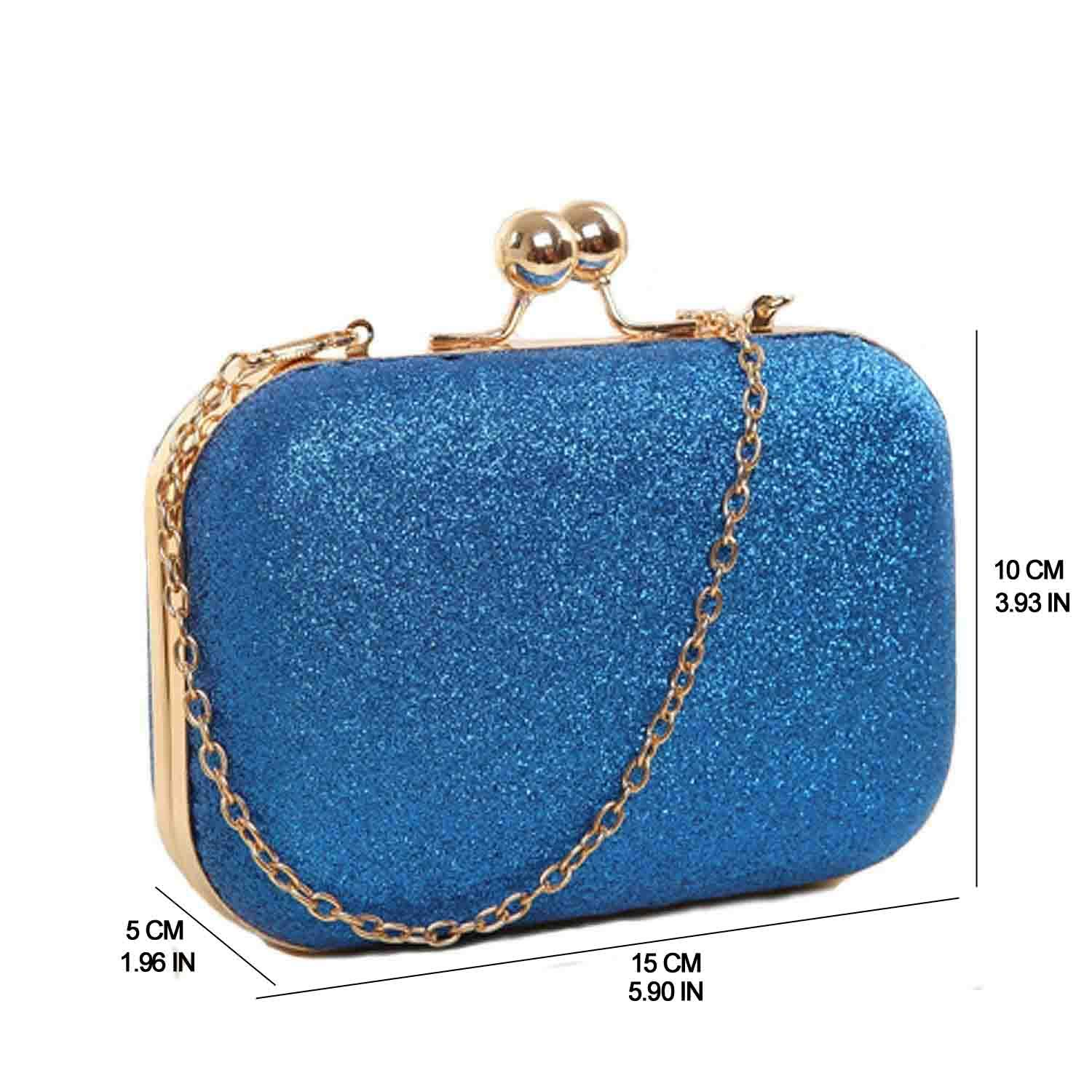 LACIRA Women s Bling Grape Hard Case Clutch (Blue)  Amazon.in  Shoes    Handbags 9e159ba8e0d7