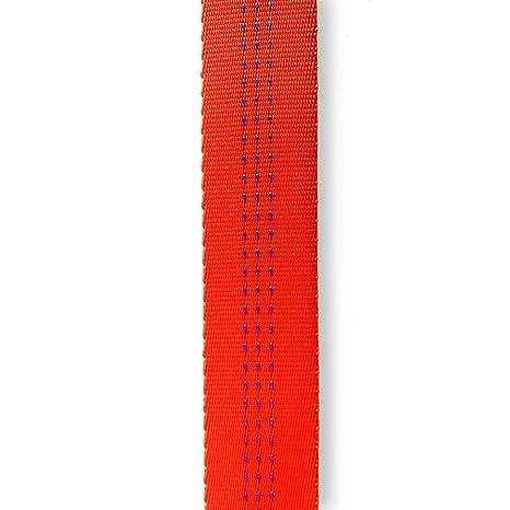 Tubular Webbing 1 pulgadas x 100 yardas (pies) Super brillante seguridad naranja con 3