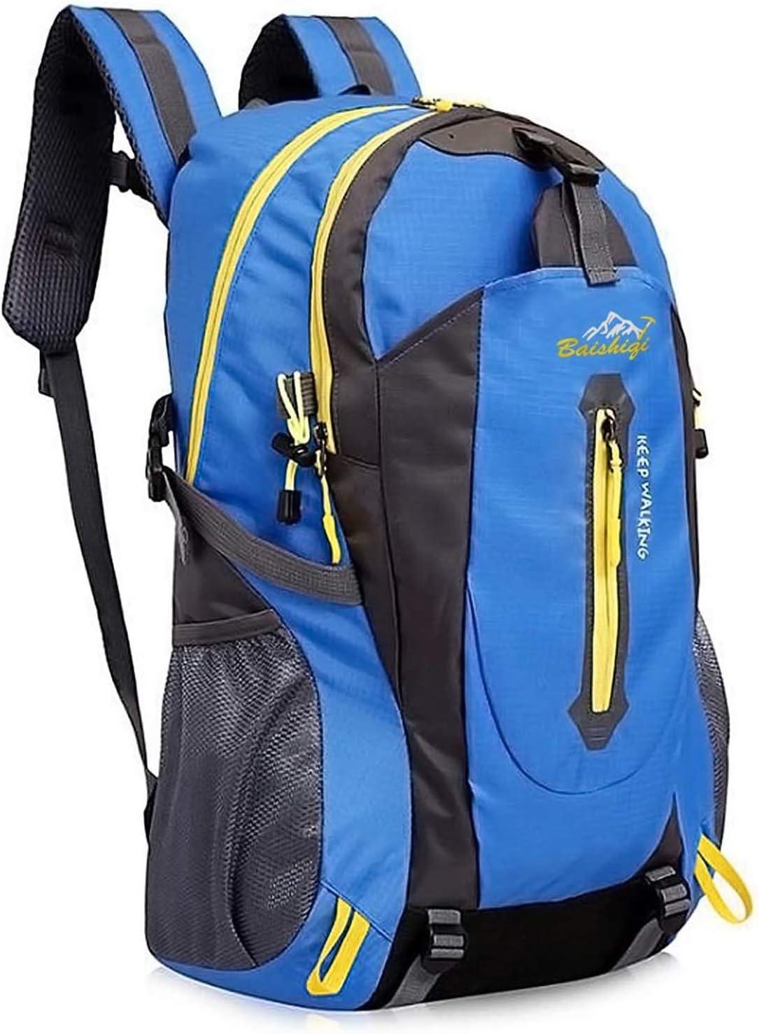 yunplus Mochila de senderismo, ligera, multifuncional, informal, resistente al agua, 40 L, camping, senderismo, mochila para ciclismo, viaje, ...