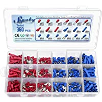 360pcs Conectores eléctricos, Sopoby Mixed Assorted Lug Kit