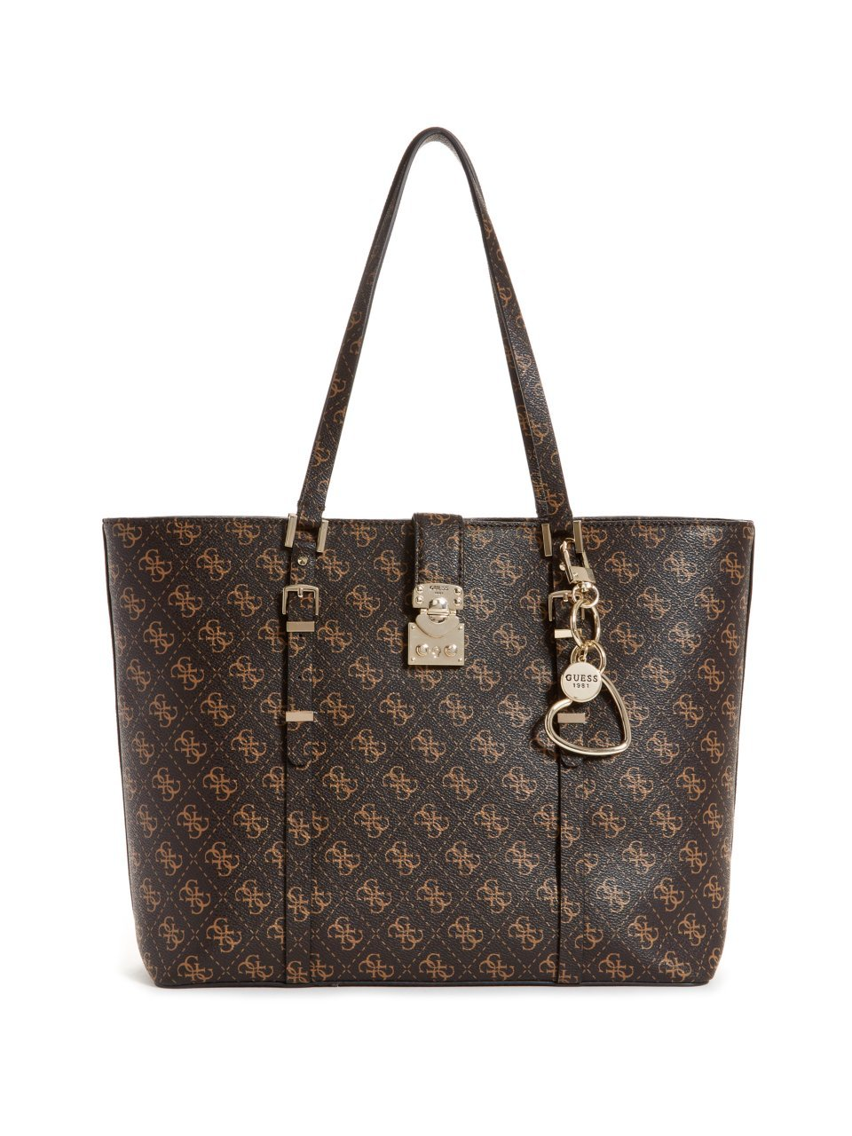 GUESS Joslyn Tote, Brown by GUESS