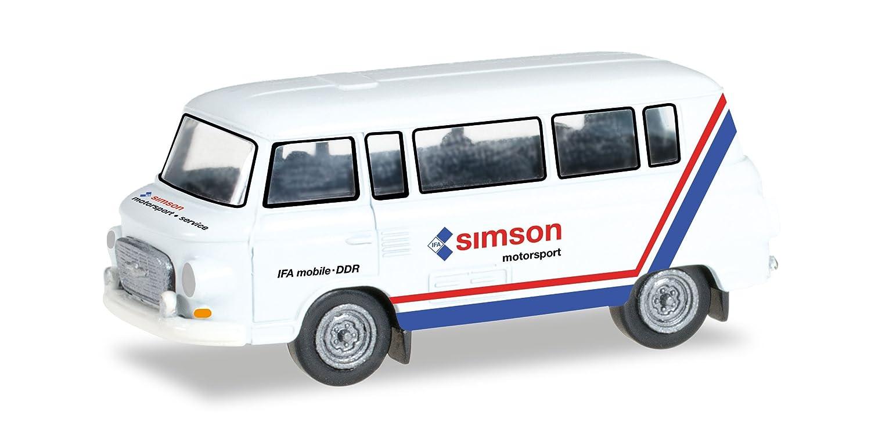 Herpa 1:120 Barkas B1000 Bus Simson Motorsport 066457