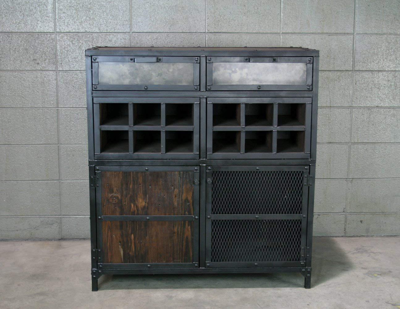 Amazon Com Wine Cabinet Modern Industrial Liquor Cabinet Bar