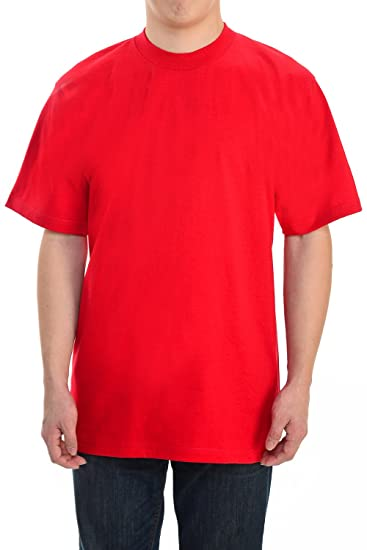 27ca6f25 Amazon.com: Pro Club Men's Heavy Weight Cotton T-Shirt,Red,Medium ...