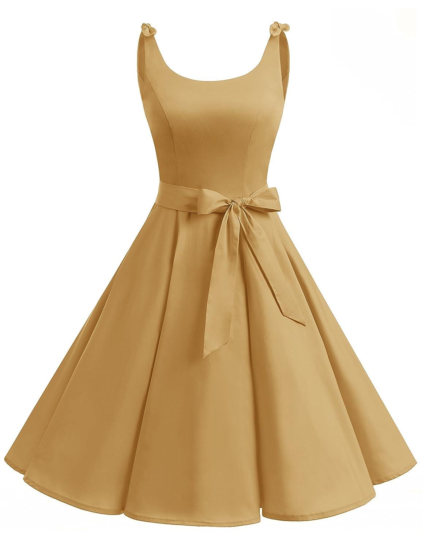 TALLA XL. Bbonlinedress Vestidos de 1950 Estampado Vintage Retro Cóctel Rockabilly con Lazo Ginger XL