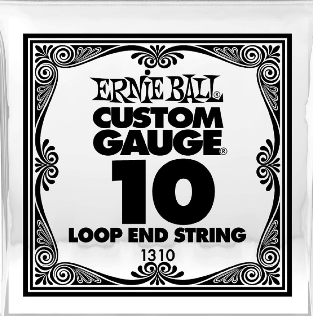 Ernie Ball P01310 (1310) .010 Loop End Stainless Steel Plain Banjo or Mandolin Guitar String SINGLE STRING