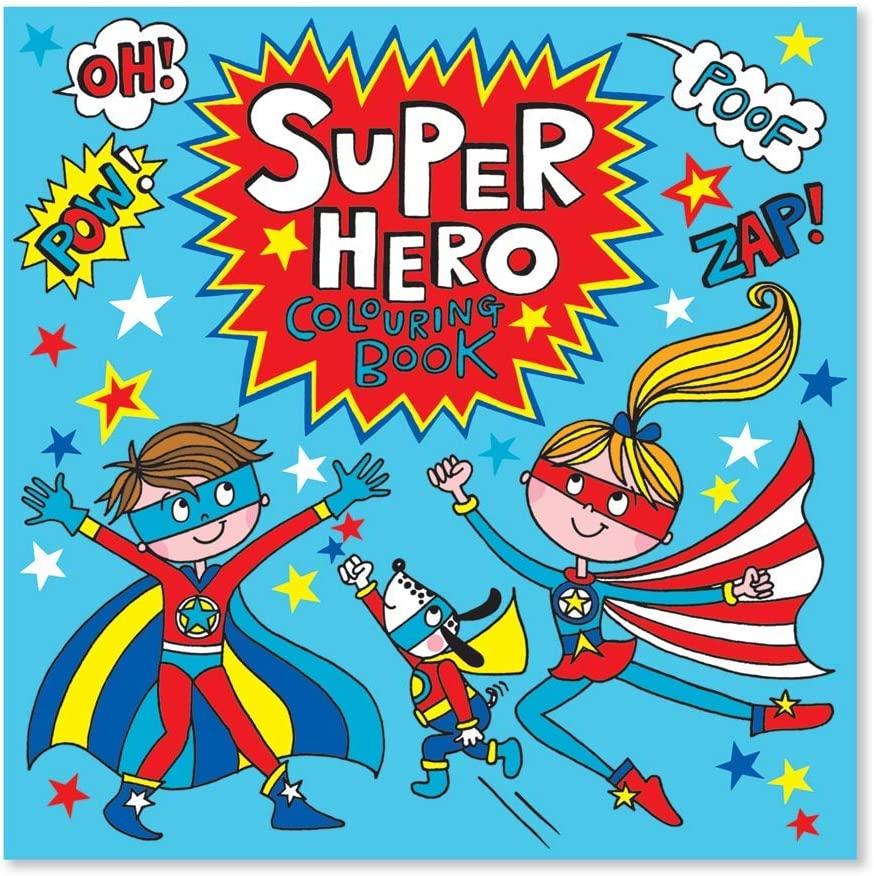 Rachel Ellen Super Hero Square Children S Colouring Book Designs Superhero Amazon Co Uk Toys Games