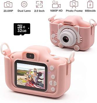 Amazon.com: Cámara digital para niños, videocámara infantil ...