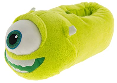bae71341326 Image Unavailable. Image not available for. Color  Disney Pixar Boys Girls  Kids Monsters Inc University Faux Fur Novelty Boot Slippers ...