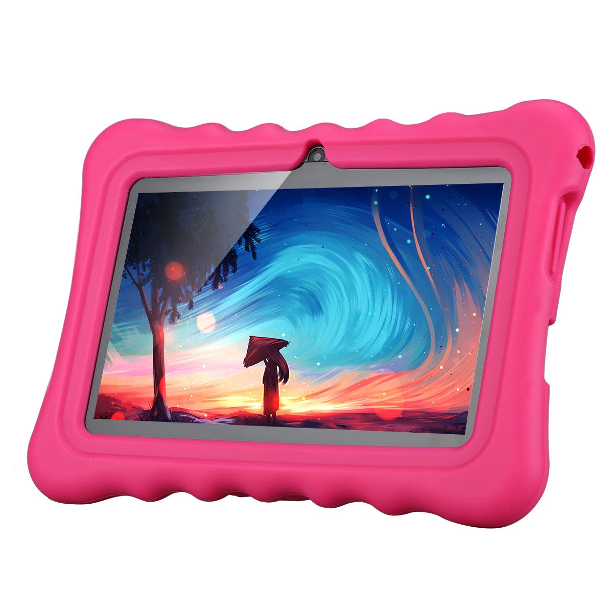 Ainol Q88 Android 7.1 RK3126C Quad Core 1GB+16GB 0.3MP+0.3MP Cam WiFi 2800Ah Tablet PC--Pink by Ainol Q88 (Image #1)