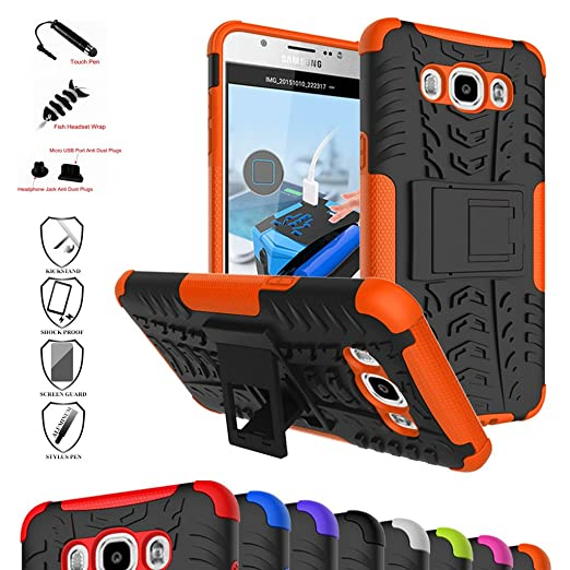 35 opinioni per Galaxy J7 2016 Custodia, Mama Mouth Duro Shock Proof copertura Rugged Heavy Duty