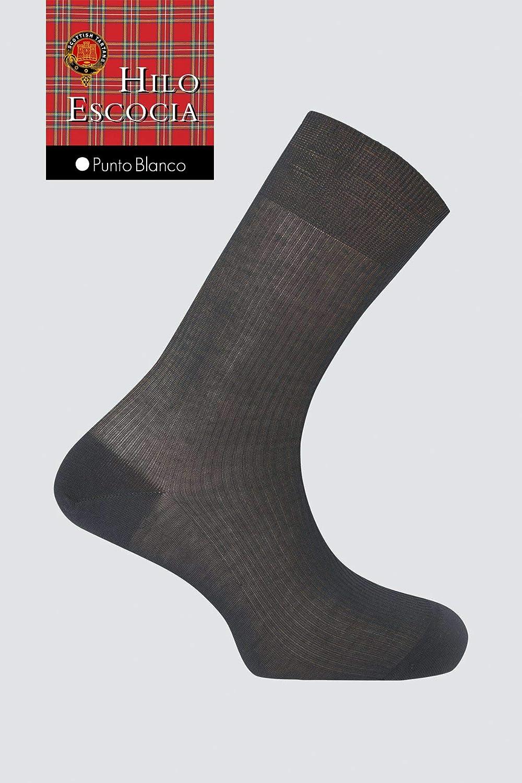 Punto Blanco Calcetines Hilo Escoces Negro EU 45-46