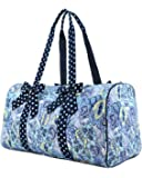 "Belvah Quilted Botanical 21"" Large Duffle Bag"