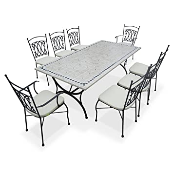 Alice\'s Garden - Salon de jardin table 8 places table de 200cm ...