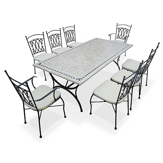Alice\'s Garden - Salon de jardin table 8 places table de 200cm ...