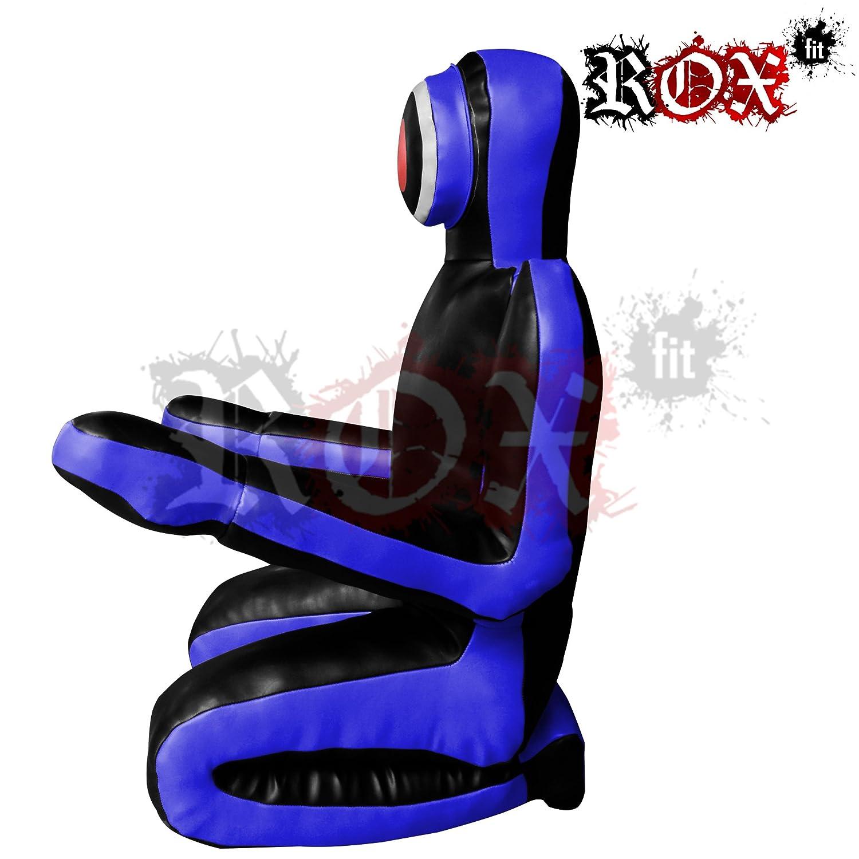 ROX Fit Passform MMA Judo Boxsack Grappling Dummy - Sitzposition, Submission Stil, Double Face, MMA Dummy, Stanz BJJ Training Bag 5 ft & 6 ft Schwarz Blau (ungefüllt) B01DW4N3YU Dummies Nutzen Sie Materialien voll aus