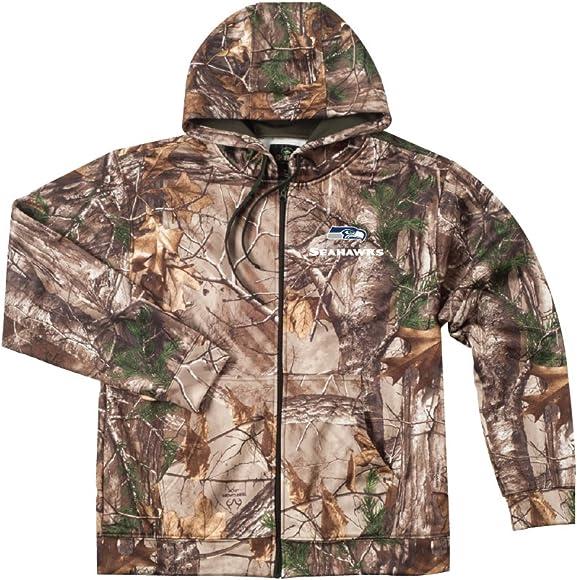wholesale dealer d1a4e b0eac NFL Seattle Seahawks Camo Trophy Xtra Tech Fleece Full Zip hoodie, 3X