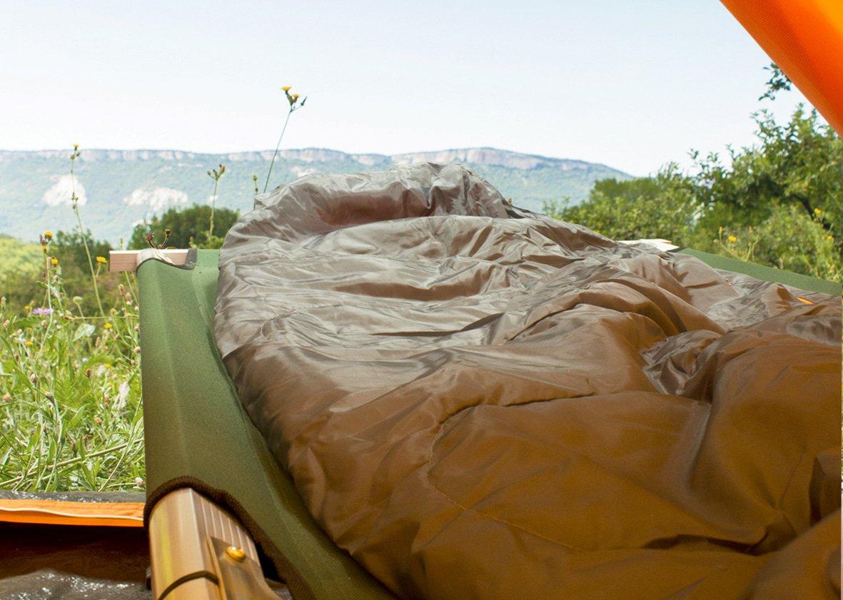 Milestone Camping Cama de campa/ña plegable Verde