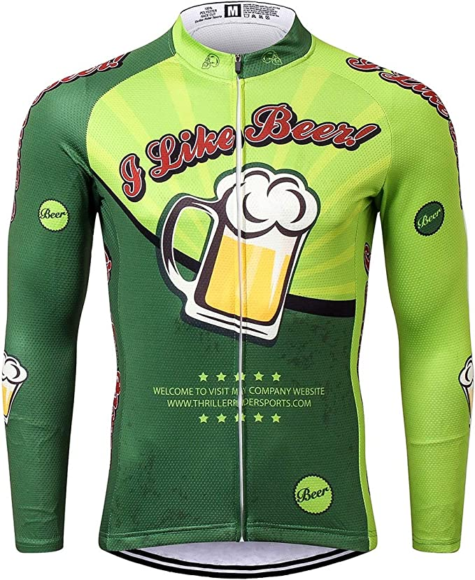Thriller Rider Sports/® Herren Cheers for Being Sport /& Freizeit MTB Fahrradbekleidung Radtrikot