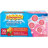 Variety Pack, Immune+ Dietary Supplement Fizzy Drink Mix, Super Orange and Raspberry,70 Count