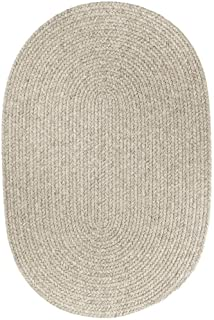product image for Rhody Rug Woolux Wool Ovall Braided Rug (2' x 3') Grey 2' x 3'