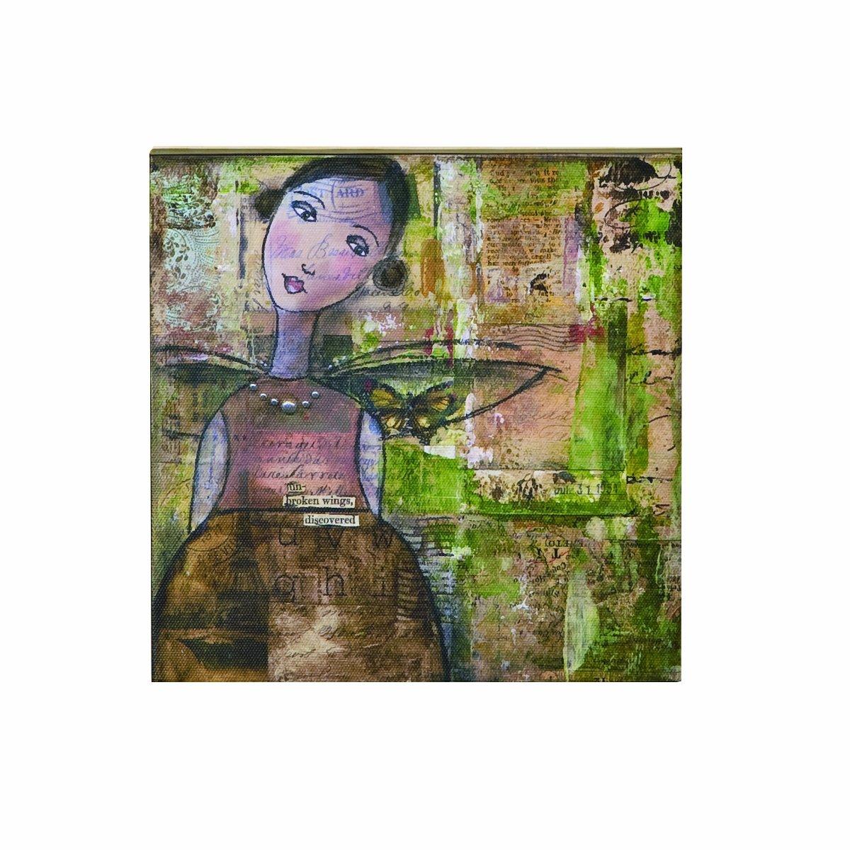 Kelly Rae Roberts Unbroken Wings Wall Art 8 by 8-Inch