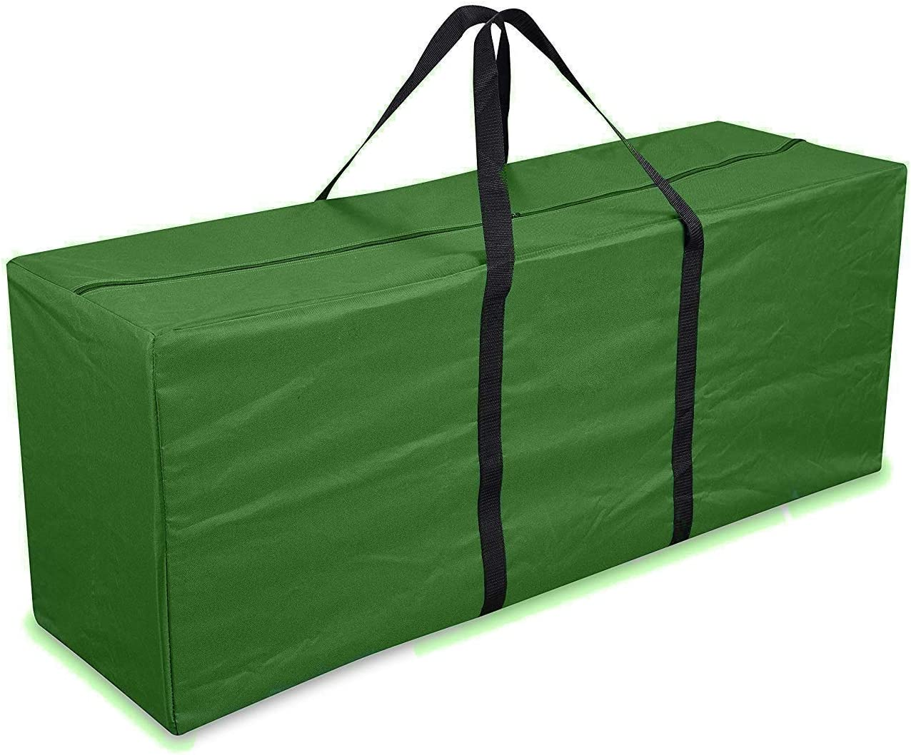 Cushion Cover Patio Furniture Storage Bag with Handles 68'' L x 30'' W x 20'' H Waterproof Zippered Storage Bags for Outdoor Cushions Green