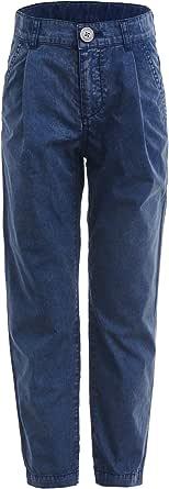 GULLIVER Pantalones chinos para niños, color azul, suaves, 2-7 años, 98-128 cm