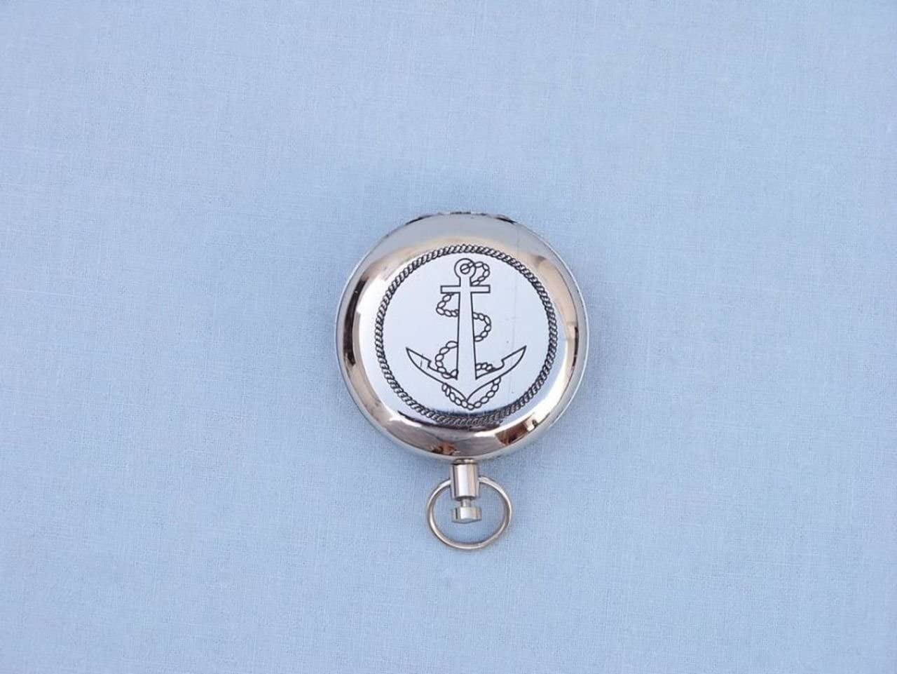 Antique Copper Hampton Nautical  CO-0902-AC Anchor Scouts Push Button Compass 2