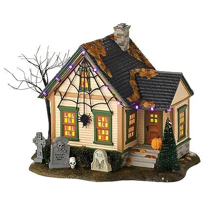 department 56 snow village halloween the spider house lit building 827 inch