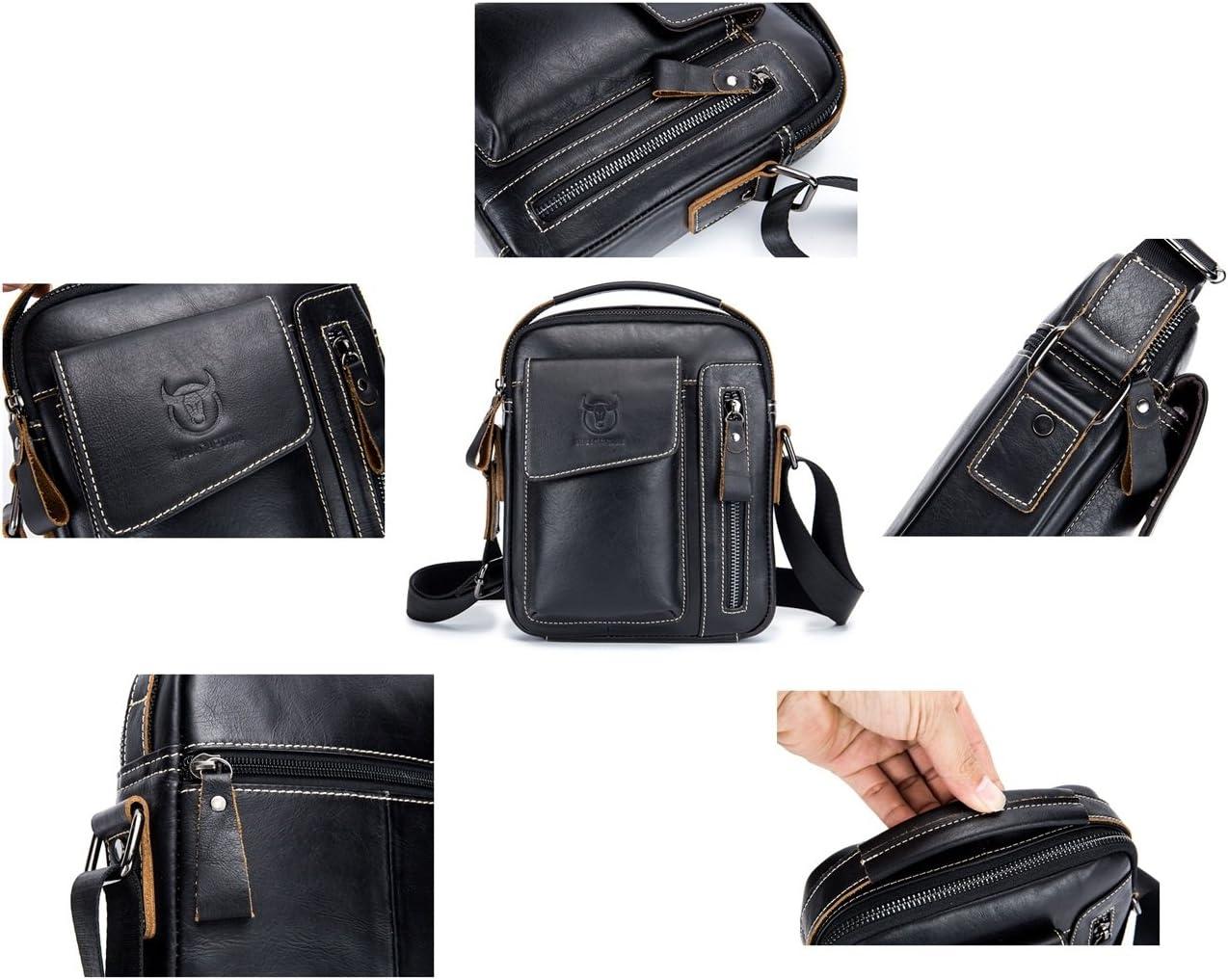 Color : Coffee Color JIAYONG Chest Bag 2019 Fashion Bag Men Chest Bag Genuine Leather Waist Bag Small Crossbody Bag Multifunction Front Backpack Casual Shoulder Bag