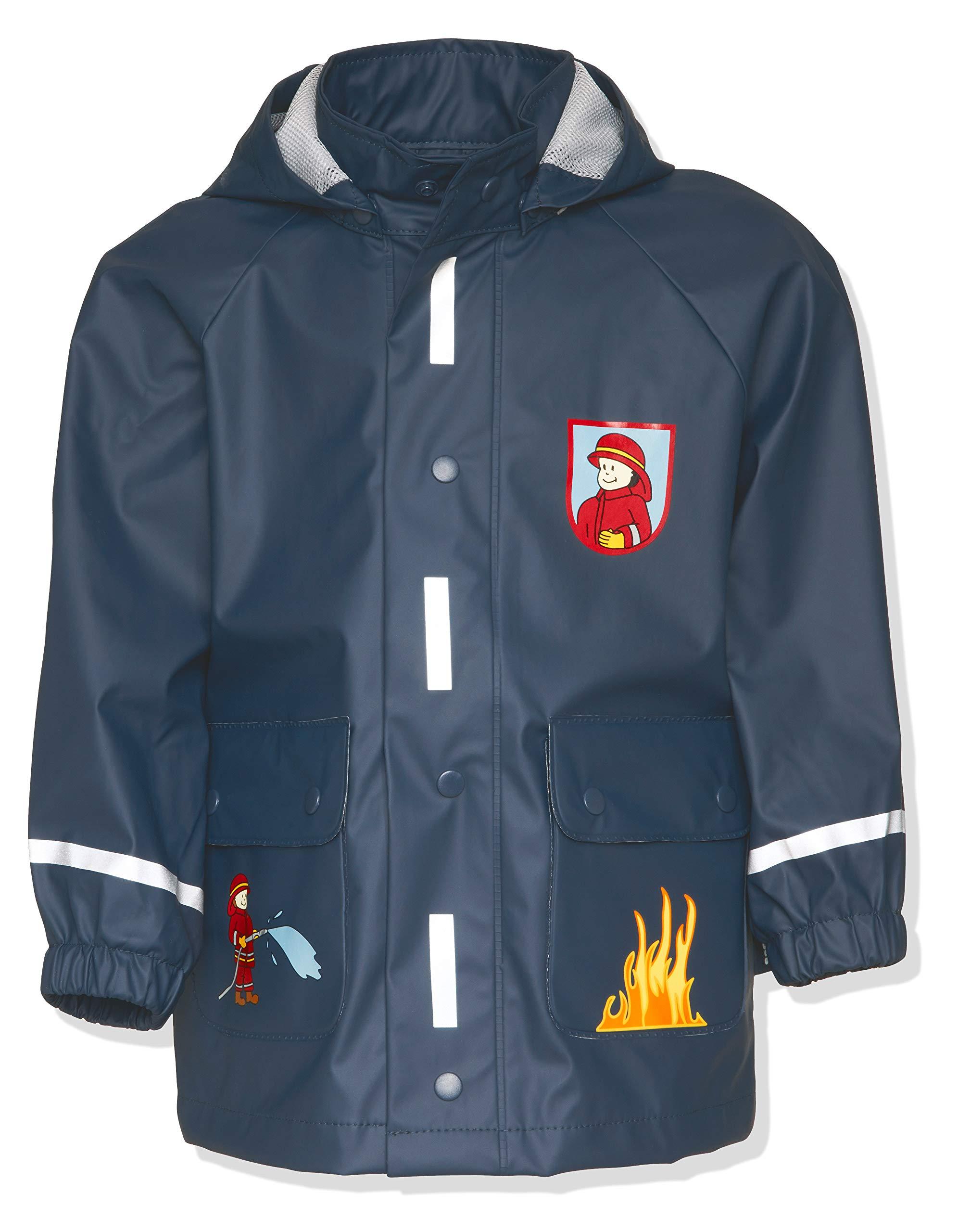 Playshoes Fireman Collection Waterproof Reflective Rain Jacket (3-4 Years)