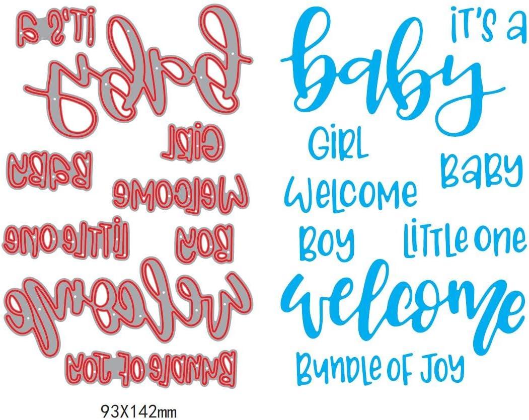 Its a Boy Phrase Metal Cutting Die Craft Stencil Baby Shower New Baby Cardmaking