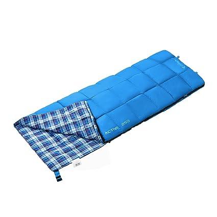 Kingcamp activo 250 ligero 100% algodón Envelope saco de dormir para Camping senderismo trekking 3